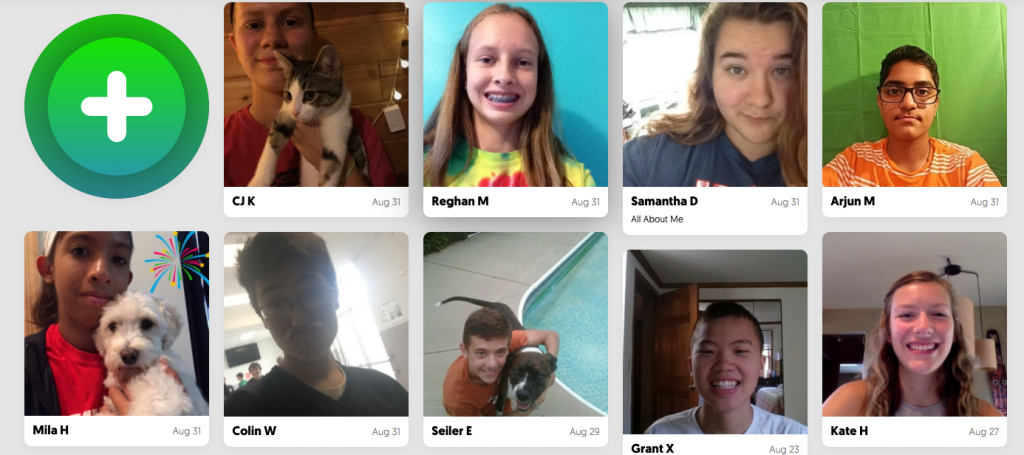 Students using Flipgrid App.